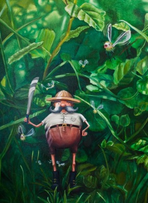 Captain Greenwash and the British Petrol Moths, Hacking Up The Rainforest